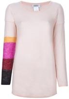 Sonia Rykiel Sonia By stripey arm knitted jumper