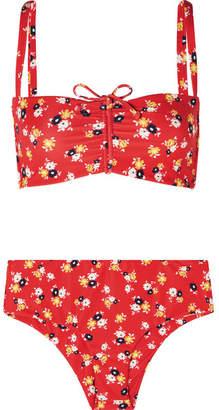 Faithfull The Brand Tessa And Noelle Floral-print Bikini - Red