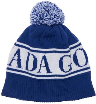Canada Goose Logo Jacquard Wool Hat