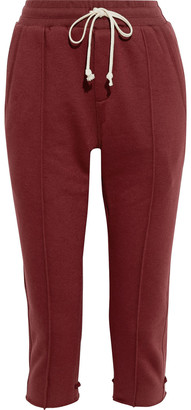 Twenty Montreal Cropped French Cotton-blend Terry Track Pants