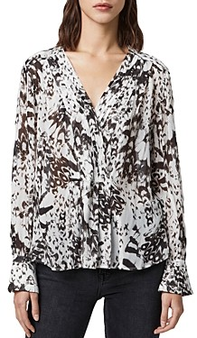 AllSaints Sheril Printed Crossover Top