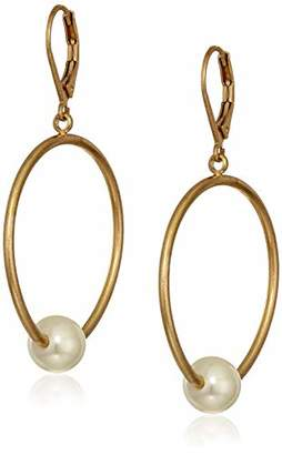 The SAK Women's Pearl Beaded Hoop Earrings