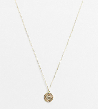 Kingsley Ryan necklace with coin pendant in sterling silver gold plate