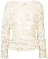 Isabel Benenato multi knit sweater - women - Cotton/Polyamide/Cashmere - 40