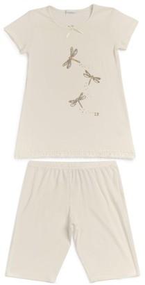 La Perla Kids Dragonfly Logo Pyjama Set (4-14 years)