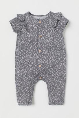 H&M Cotton Romper Suit - Gray