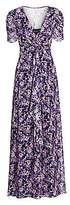 Shoshanna Women's Marella Floral Silk-Blend Long Flare Dress - Size 0