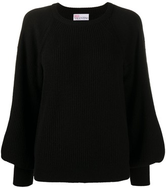 RED Valentino Puffed Sleeves Wool Jumper