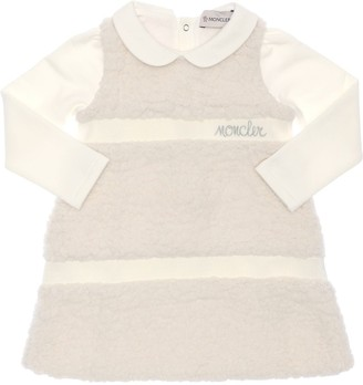Moncler Cotton Sweater & Faux Shearling Dress