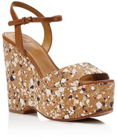 Tory Burch Solana Confetti Platform Wedge Sandals