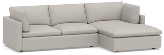 Pottery Barn Bolinas Upholstered Sofa with Chaise Sectional