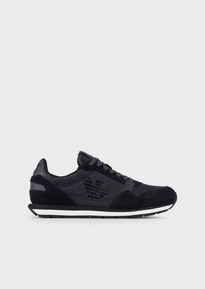 Emporio Armani Suede Sneakers With Side Logo
