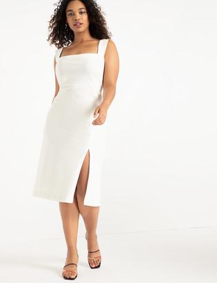 ELOQUII Sleeveless Dress With Slit