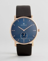 Accurist 7167.01 Leather Watch In Black