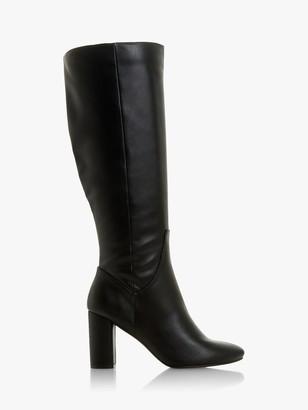 Head Over Heels Shyana Knee High Boots, Black