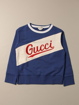 Gucci Cotton Sweatshirt With Embroidered Logo