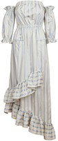 Jiri Kalfar Light Blue & Creme Stripe Dress