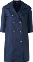 Tagliatore buttoned coat - women - Polyester/Cupro - 42