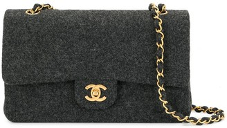 Chanel Pre Owned 1990 Quilted Double Flap Chain Shoulder Bag