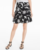White House Black Market Soft Tiered Floral Print Skirt