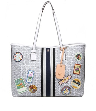 Tory Burch Shopping Gemini In Canvas And Ivory Color Leather