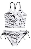 Reef Girl's Palm Tree Two-Piece Swimsuit
