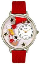 Whimsical Watches Unisex U0820015 Cheerleader Red Leather Watch