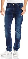 ProjekRaw Projek Raw Men's Slim Leg Jean with Light Blue Wash and Baked In Whiskers