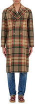 Gucci Men's Wool-Mohair Appliquéd Double-Breasted Coat-BROWN