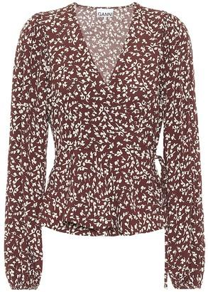 Ganni Floral crApe blouse