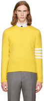 Thom Browne Yellow Classic Crewneck Pullover