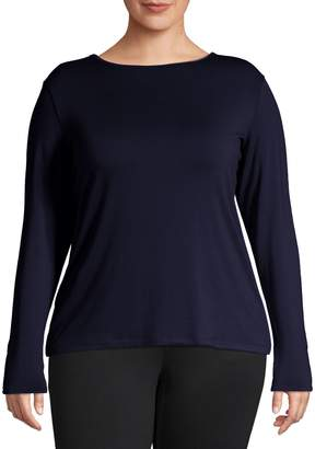 Lord & Taylor Plus Long-Sleeve Pullover Top