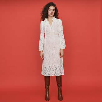 Maje Guipure lace midi dress
