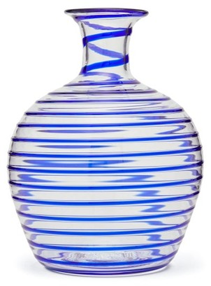 Yali Glass - A Filo Large Glass Carafe - Dark Blue