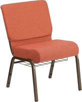 Asstd National Brand Hercules Series Fabric Side Chair with Book Rack