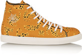 Charlotte Olympia Printed canvas high-top sneakers