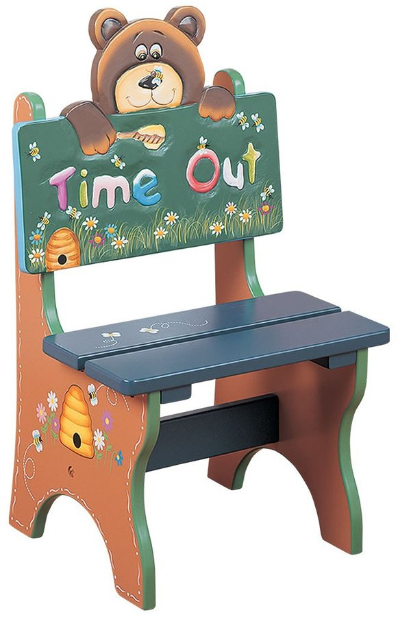 Teamson Children's Time Out Chair - Bear- Safari