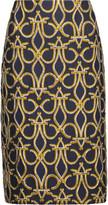Emilio Pucci Metallic jacquard skirt