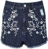 Miss Selfridge Petites Embroidered Short