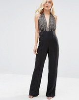 Forever Unique Dixie Jumpsuit With Lace Halterneck Top