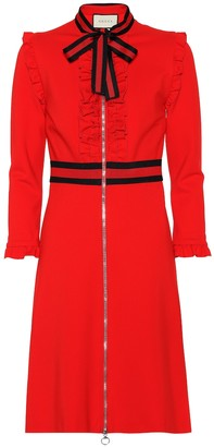 Gucci Crepe-jersey dress