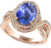 Effy Final Call Tanzanite (2-5/8 ct. t.w.) and Diamond (1/2 ct. t.w.) Ring in 14k Rose Gold
