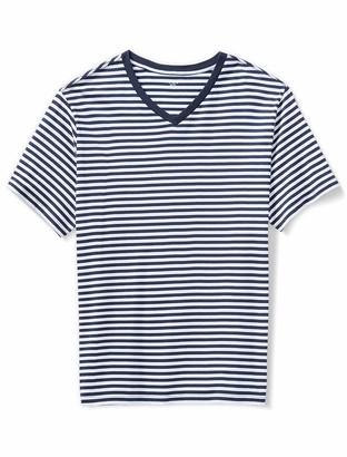 Amazon Essentials Men's Short-Sleeve Stripe V-Neck T-Shirt