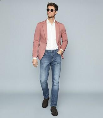 Reiss World - Cotton-blend Slim-fit Blazer in Pink