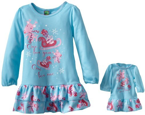 Dollie & Me Girls Reindeer Print Nightgown