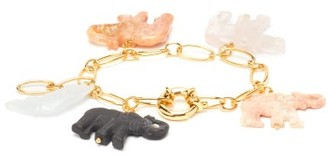Timeless Pearly 24kt Gold-plated Elephant-charm Bracelet - Gold