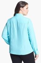 MICHAEL Michael Kors Zip Campshirt (Plus Size)