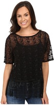 Roper 0504 Embroidered Knit Top