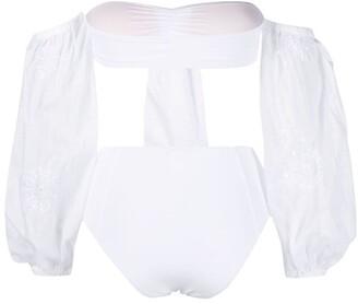 Anjuna Valetina embroidered bikini set