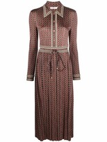 Thumbnail for your product : Tory Burch Pleated-Skirt Shirt Dress